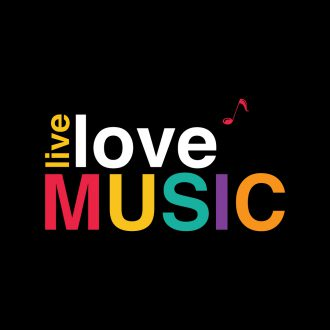 live love music colourful typography