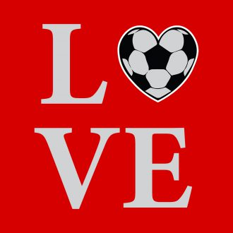 love football heart