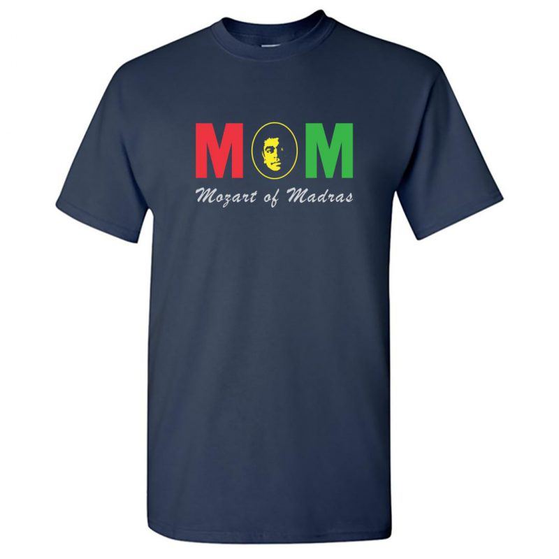 mozart of madras arr fan round neck t shirt navy front
