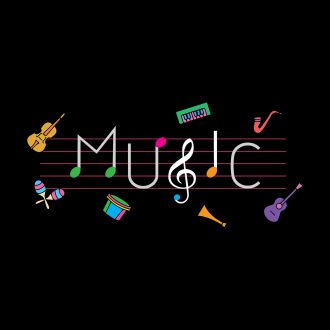 music colourful typography music lover