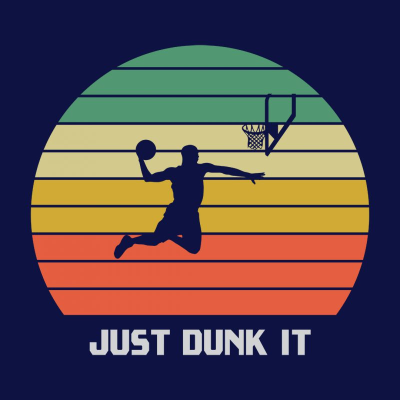 vintage basketball just dunk it