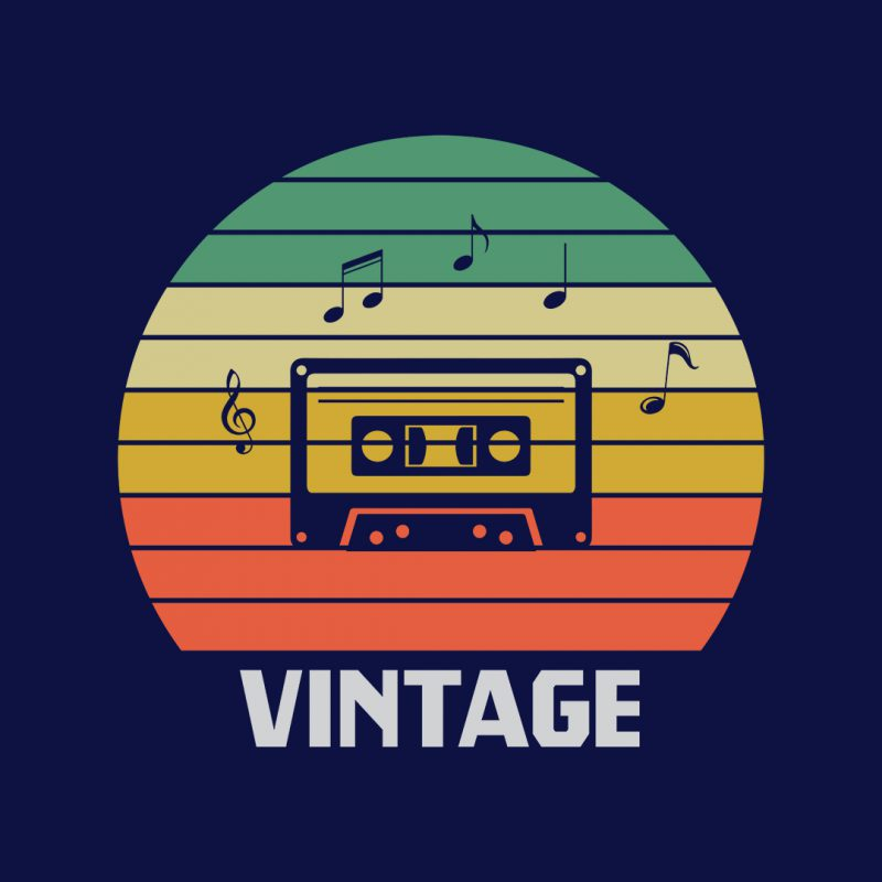 vintage music 80s 90s music lover