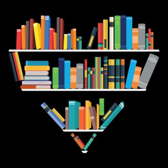 books heart bookshelf book love