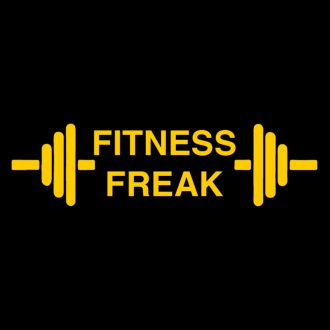 fitness freak unisex polo t shirt design