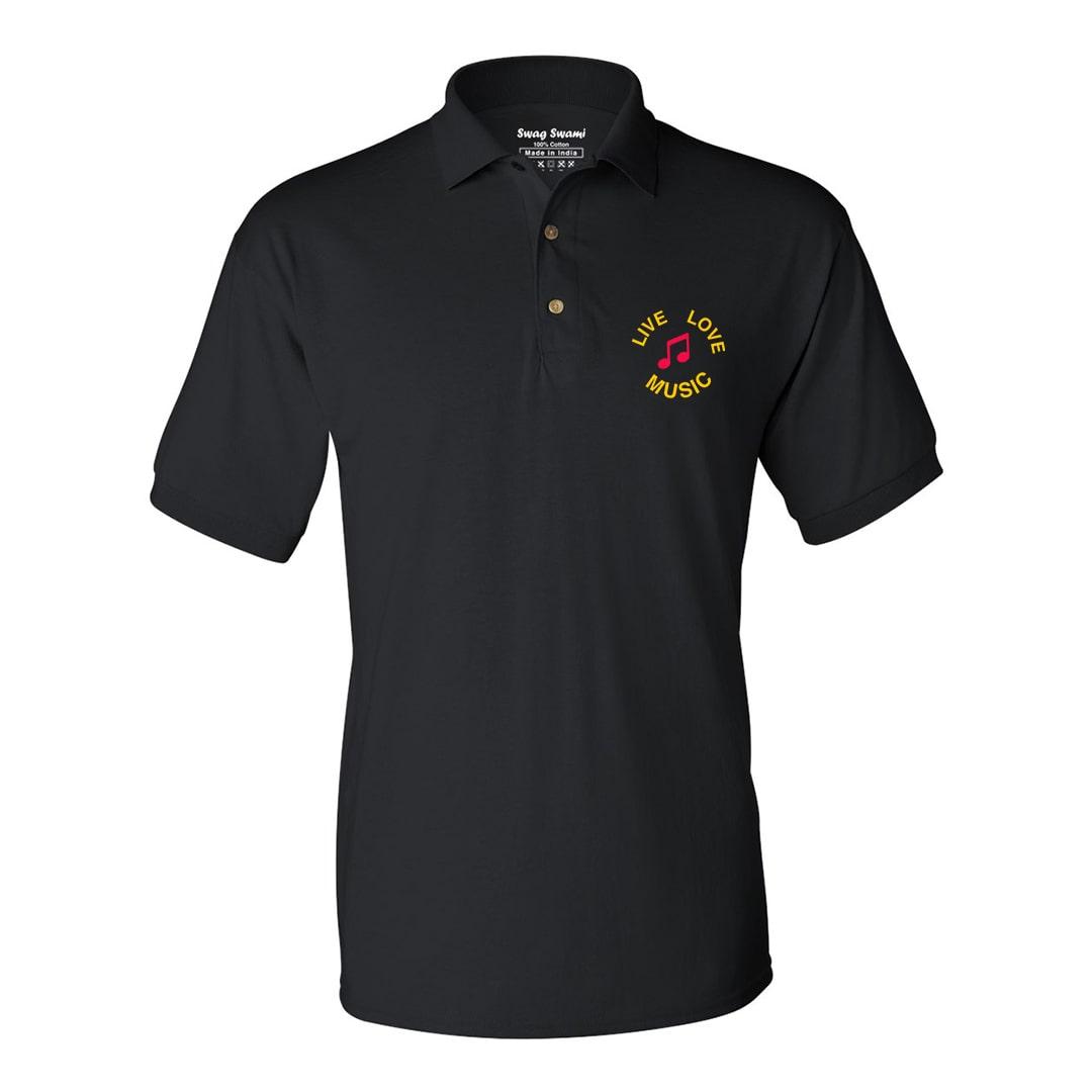 Music Lover Unisex Polo T Shirt Black