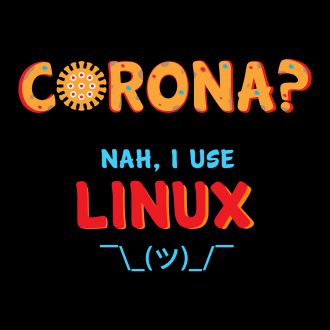corona virus i use linux funny geek
