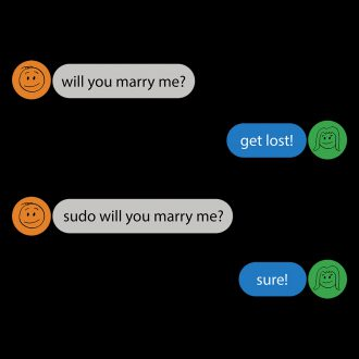 power of root sudo command funny geeky developer