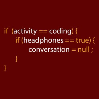 when coding with headphones do not disturb useful office