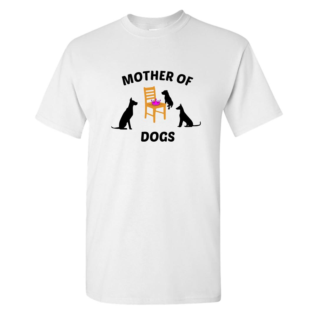 211564ee Mother Of Dogs Pet Mom Round Neck T Shirt White Front