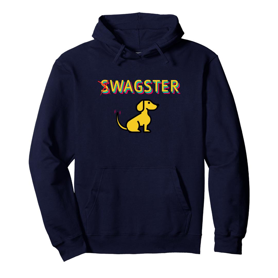 67e1a98a Swagster Dog For Dog Lovers Unisex Hoodie Navy Front