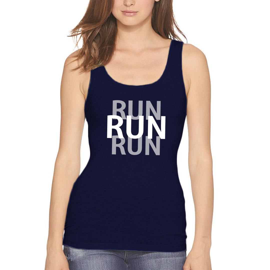 729d4a6d Run Run Run Running Pride For Runners Women Tank Top Navy Front