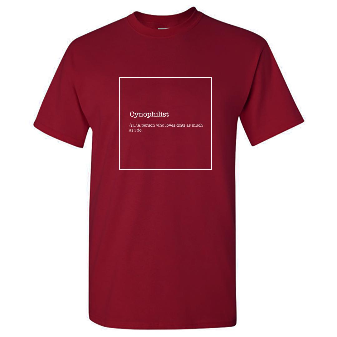 7333ca8f Cyaniphilist Dog Lover Pet Canine Friend Round Neck T Shirt Maroon Front