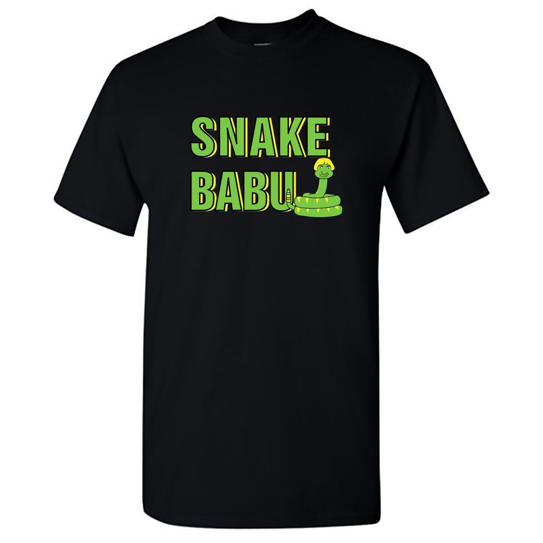C4d0681b Snake Babu Kollywood Tamil Comedy Round Neck T Shirt Black Front