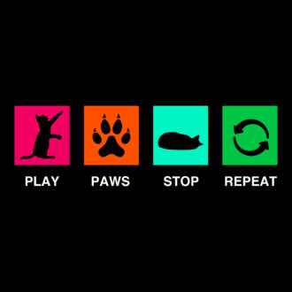 d54f1a32 play paws stop repeat pet cat lover cute