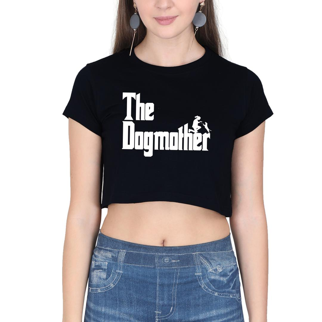 4352e6c1 The Dogmother Classic Movie Pet Owner Dog Lover Gift Women Crop Top Black Front
