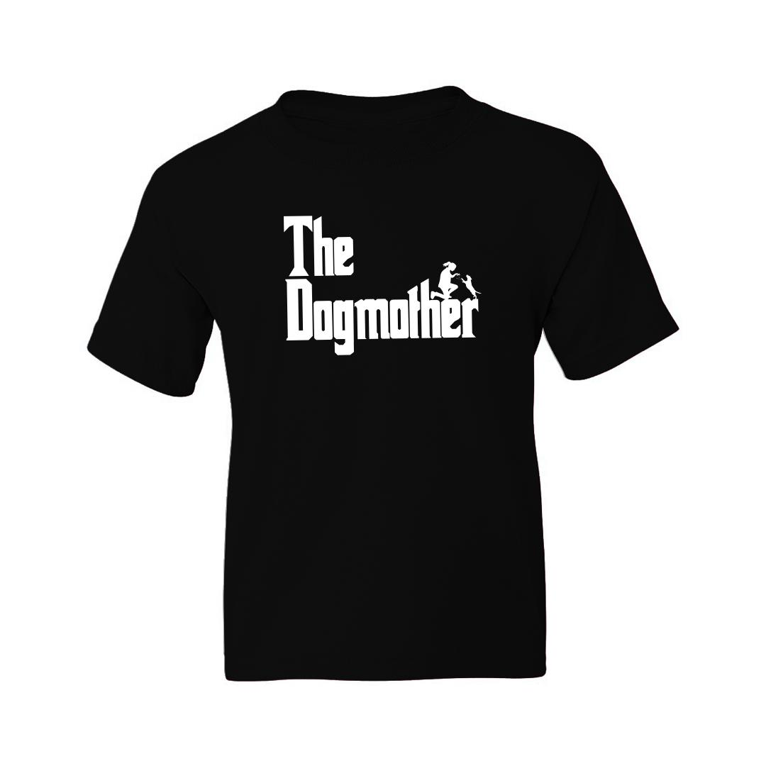 4662a632 The Dogmother Classic Movie Pet Owner Dog Lover Gift Kids T Shirt Black Front