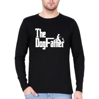 56aba237 the dogfather classic movie pet owner dog lover gift men full sleeve t shirt black front