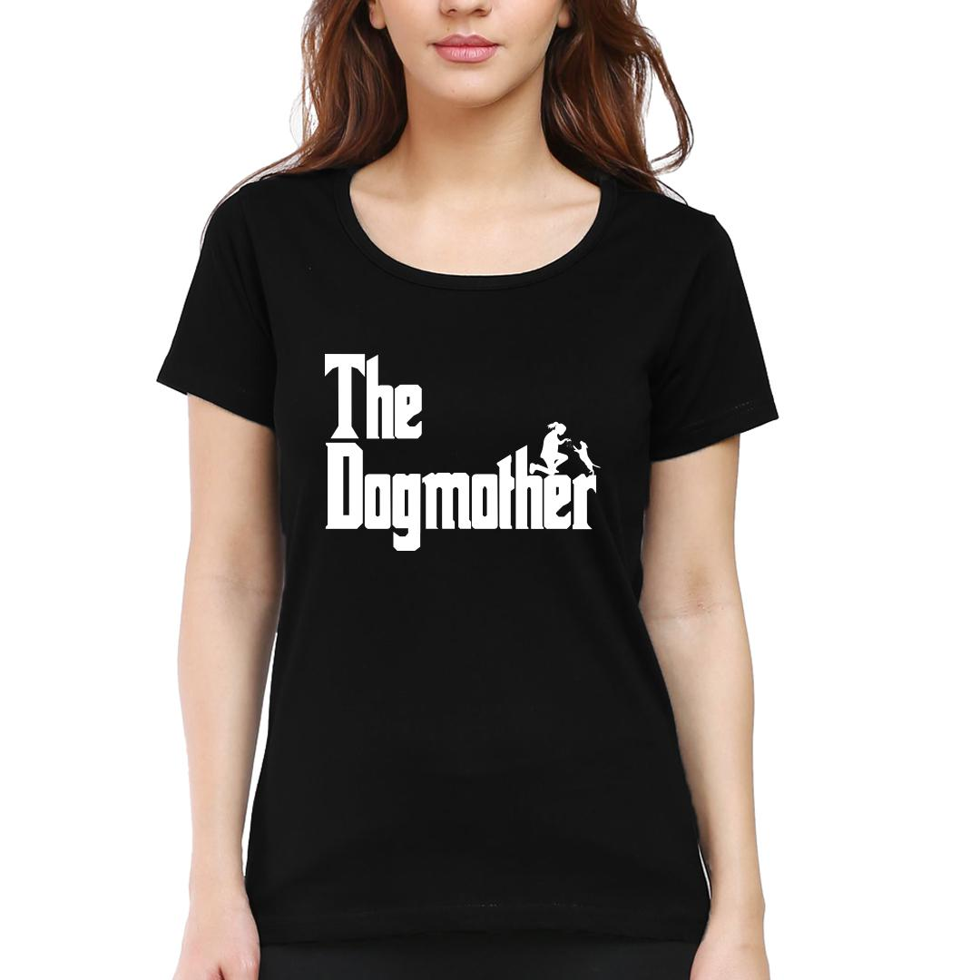 9161bc03 The Dogmother Classic Movie Pet Owner Dog Lover Gift Women Round Neck T Shirt Black Front