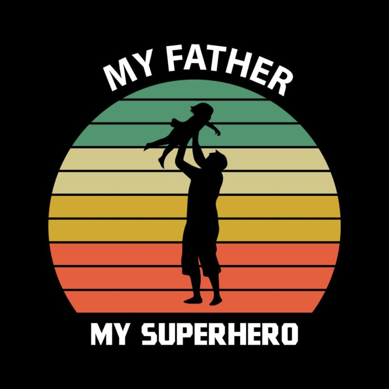 9676a4d3 my father my superhero vintage retro look fathers day gift coffee mug min