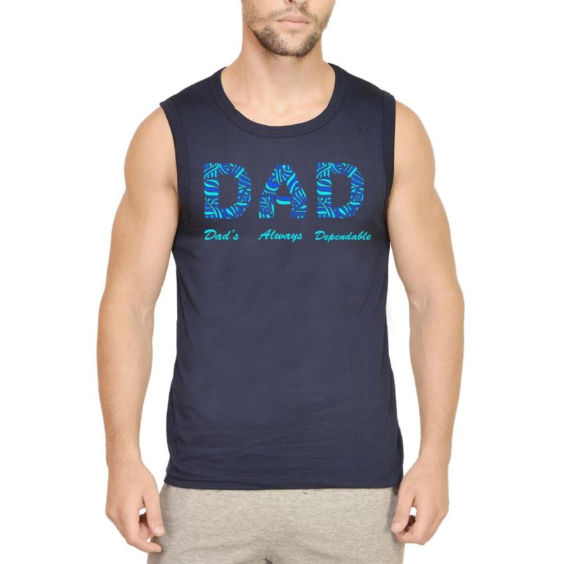 a02db7d0 dad dads always dependable father men sleeveless t shirt navy front