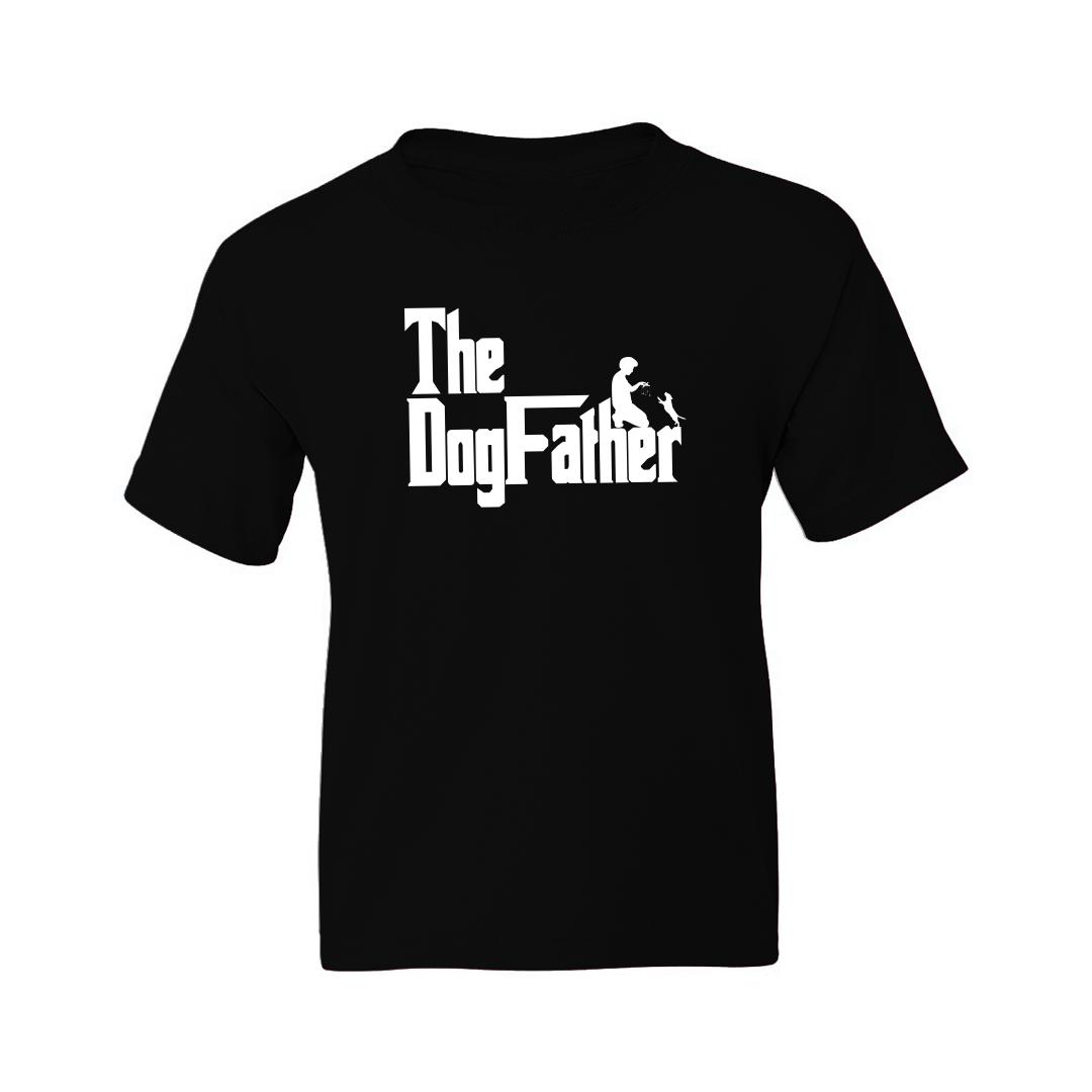 B497d50f The Dogfather Classic Movie Pet Owner Dog Lover Gift Kids T Shirt Black Front