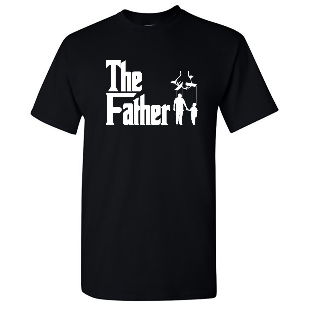 B92d0656 The Father Classic Film Movie Lover Gift Round Neck T Shirt Black Front