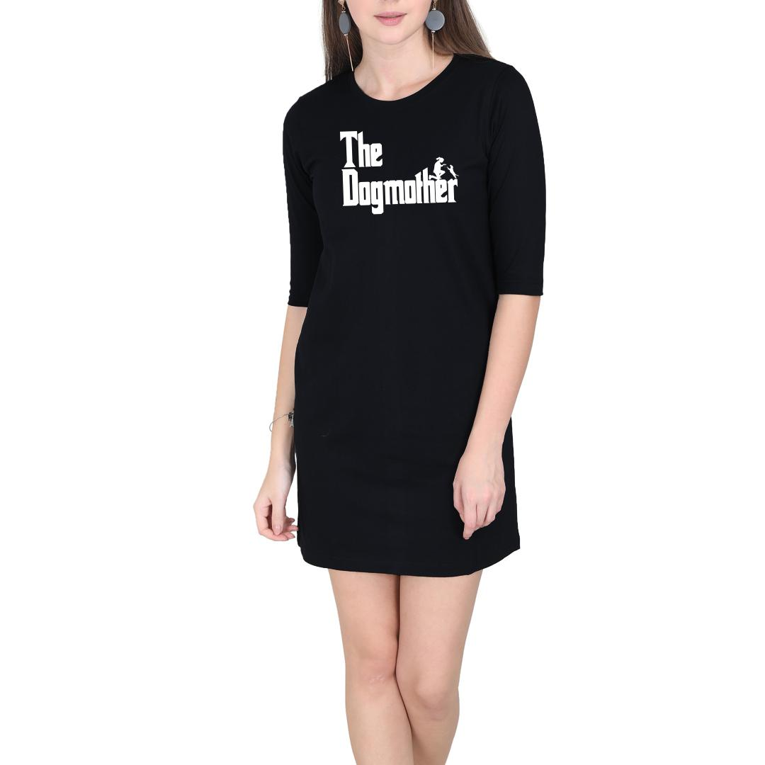 C00c6167 The Dogmother Classic Movie Pet Owner Dog Lover Gift Women T Shirt Dress Black Front