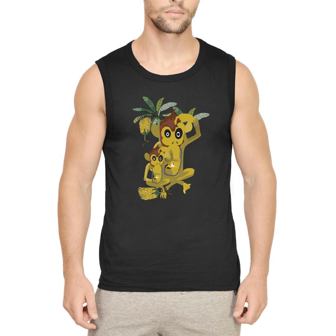 163157d7 Nakalchi Bandar Men Sleeveless T Shirt Black Front