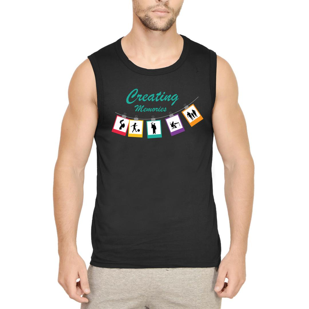 18fe815e Creating Memories For Others Life Of A Photographer Men Sleeveless T Shirt Black Front