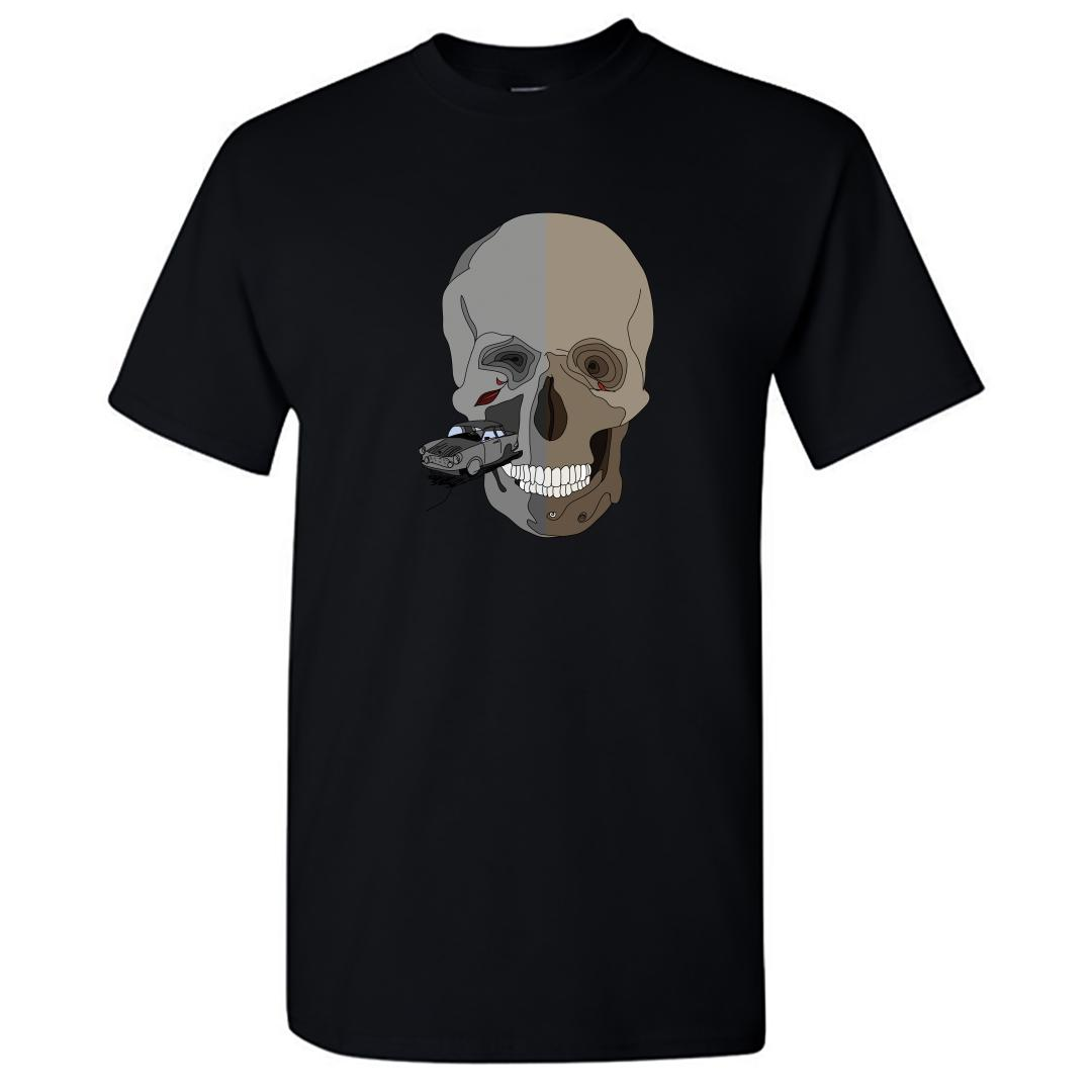 1e8adcf7 The Skull That Sends Shivers Round Neck T Shirt Black Front