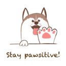 2099dd62 stay pawsitive slogan for everyone