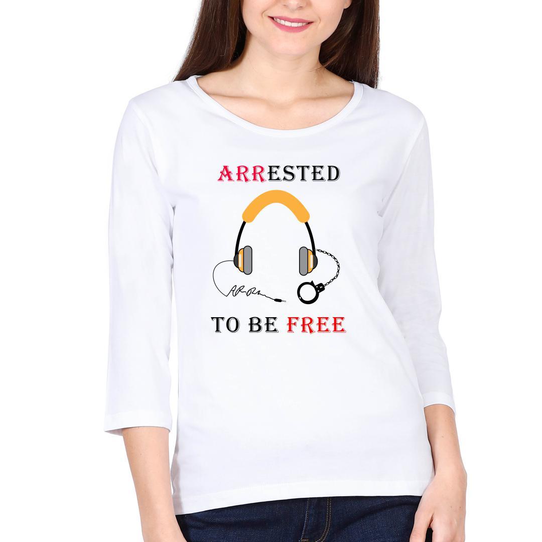 23ff840e Arr Music Addiction Women Full Sleeve T Shirt White Front