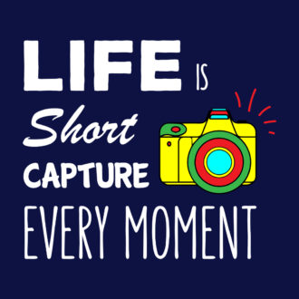 3ba00aa8 life is short capture every moment colourful retro camera