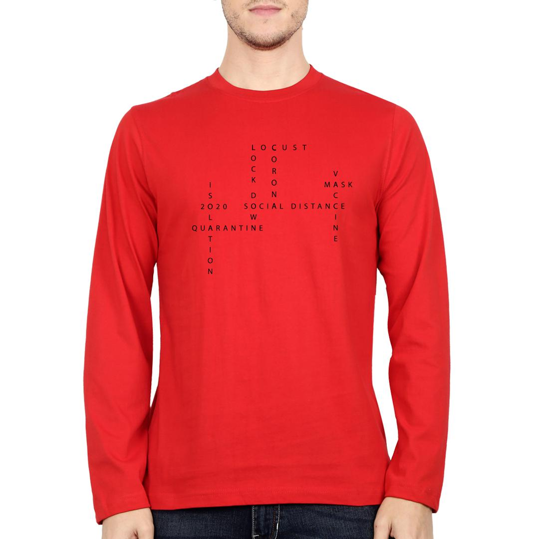 74b97e41 About 2020 Men Full Sleeve T Shirt Red Front