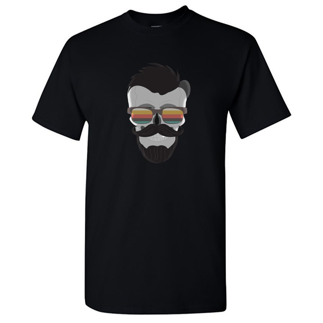 84bca619 The Skull That Has Swag Round Neck T Shirt Black Front