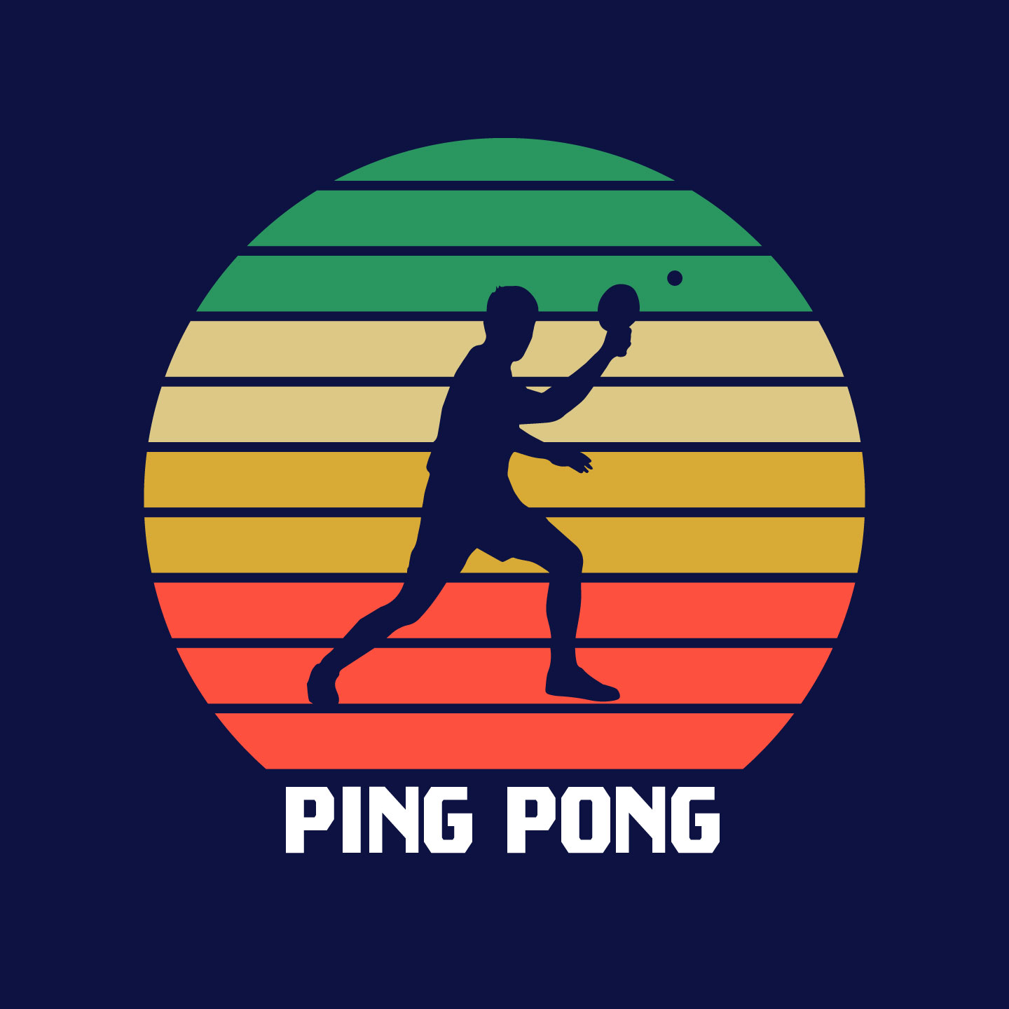 A0539d88 Ping Pong Retro Effect Vintage Colourful
