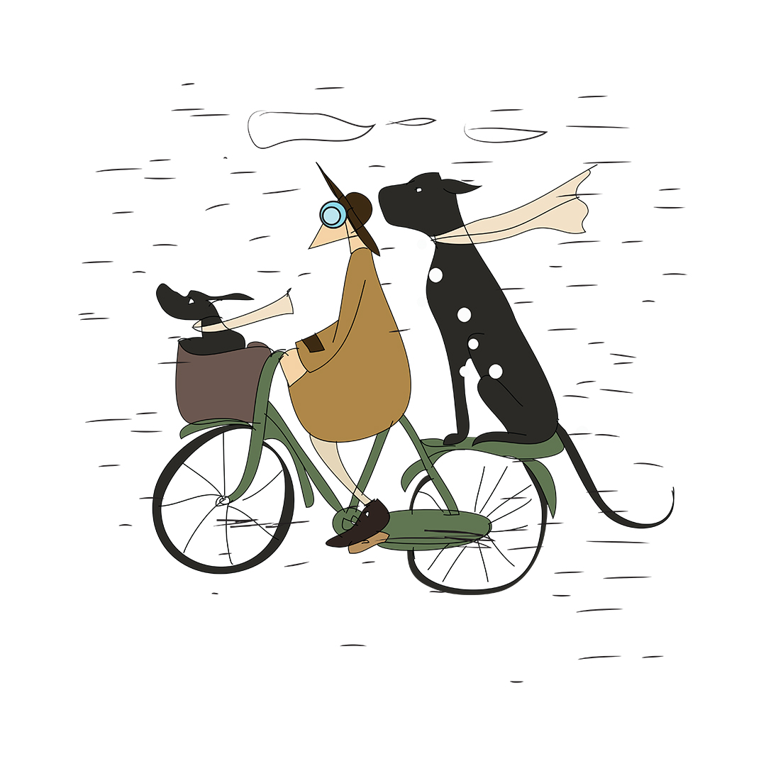 A2f32ac7 Me And My Pets Ride On A Rainy Day