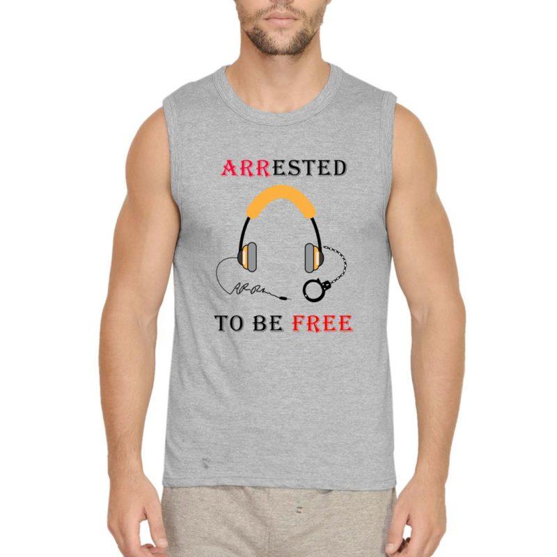 ae078d0d arr music addiction men sleeveless t shirt grey front