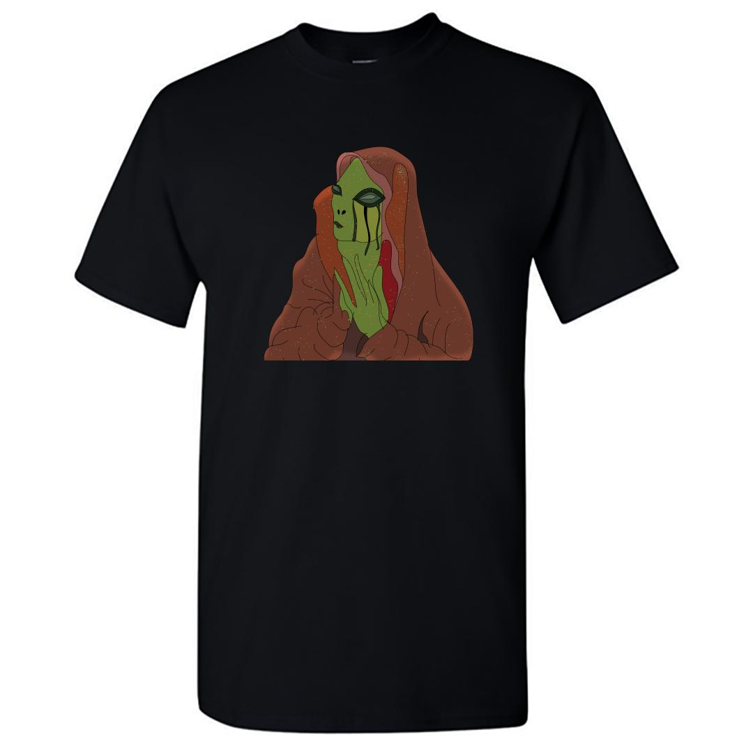 B9092909 Alien Visits And Greets Round Neck T Shirt Black Front