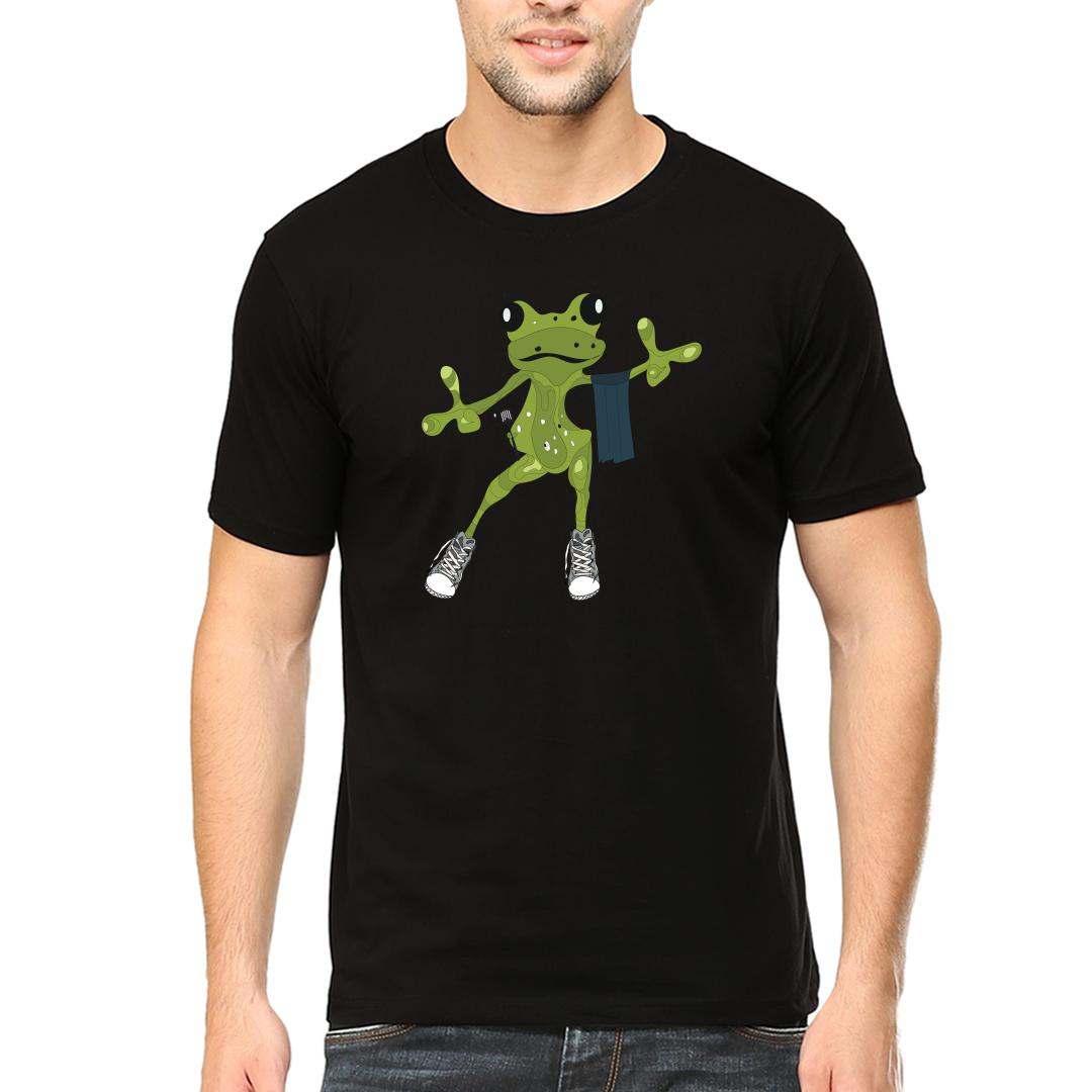 D89a7a63 Master Chef Frog Says Hellomen Round Neck T Shirt Black Front