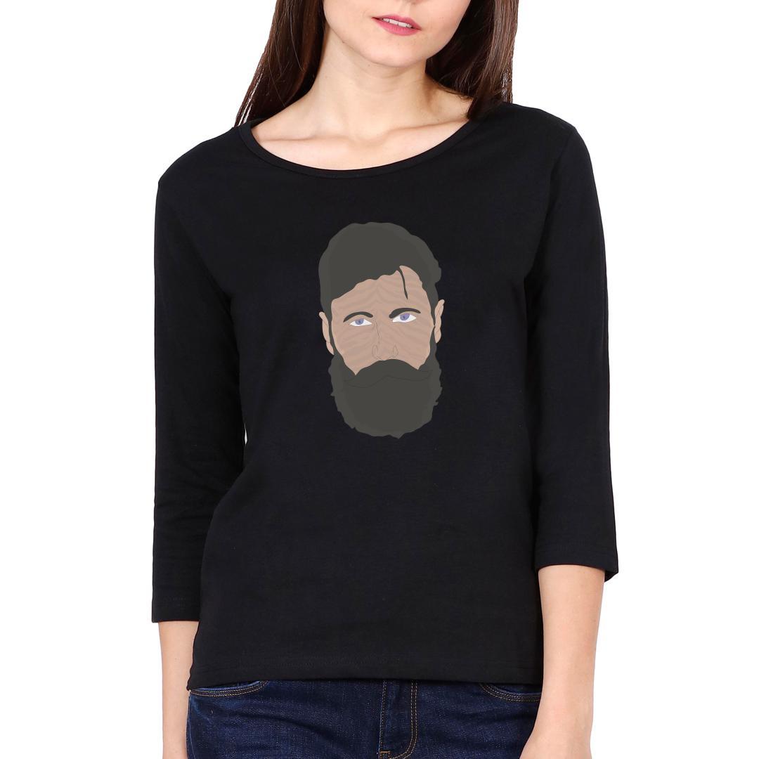F29f0833 Beardo Man Women Full Sleeve T Shirt Black Front