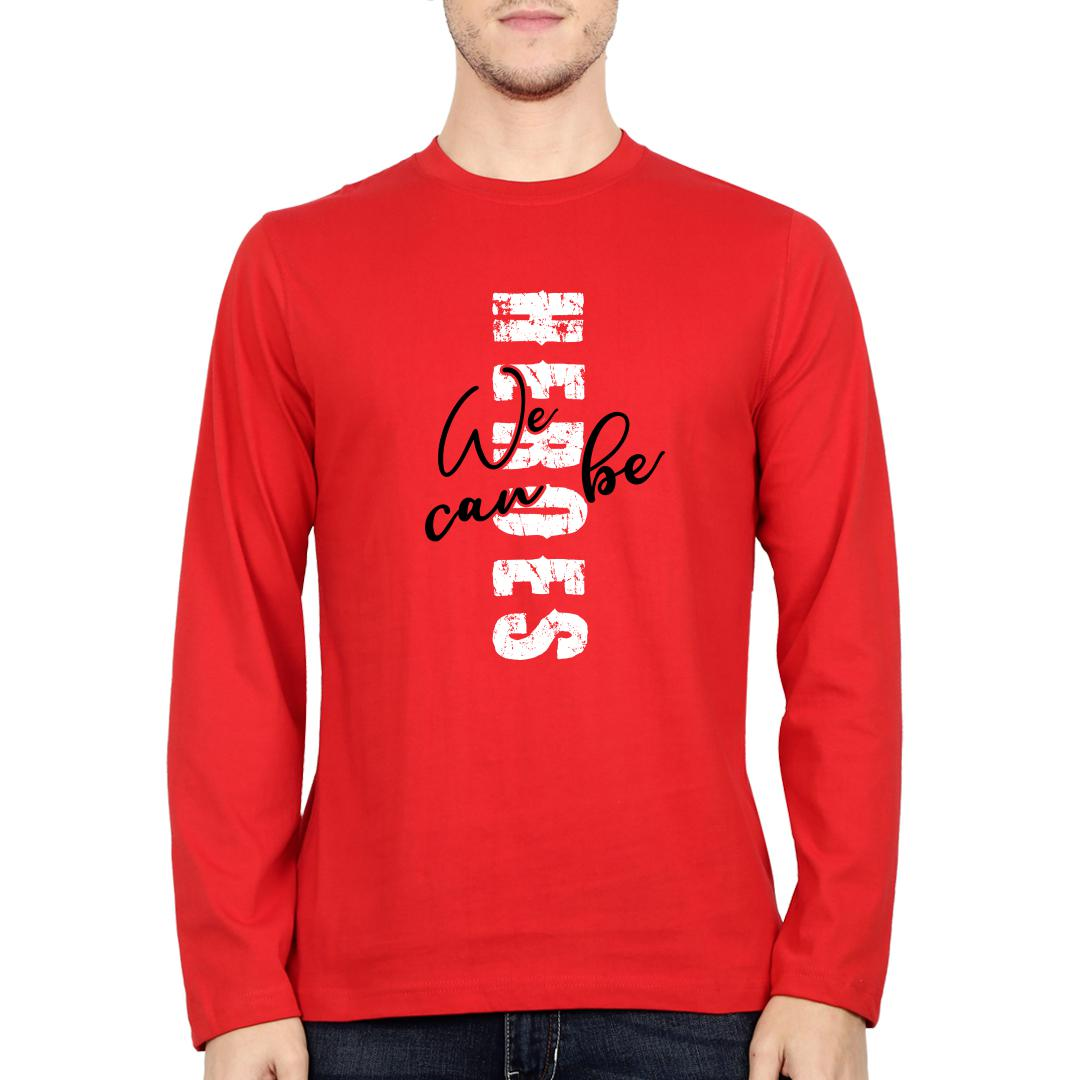 01abe9cd Heroes Red Men Full Sleeve T Shirt Red Front