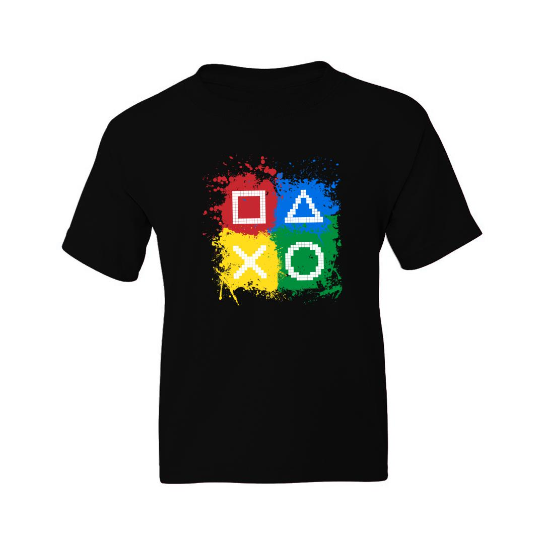 16c055b8 Gaming Controls For Gaming Lovers Gamers Kids T Shirt Black Front