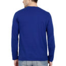 1b8e29d4 full sleeve men t shirt royal blue back