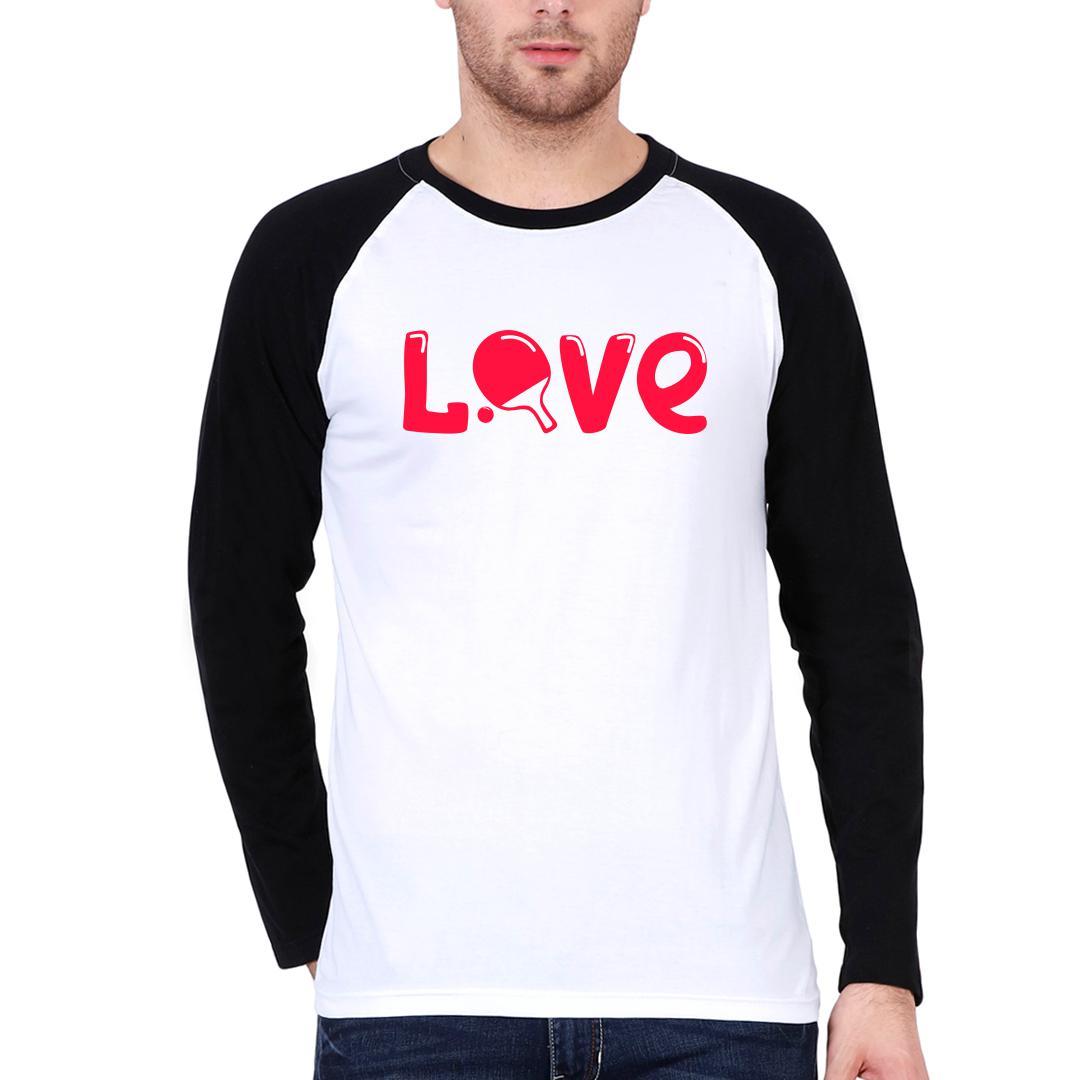 1c2896e7 Love Table Tennis Tt Player Gift Men Raglan T Shirt Black White Front