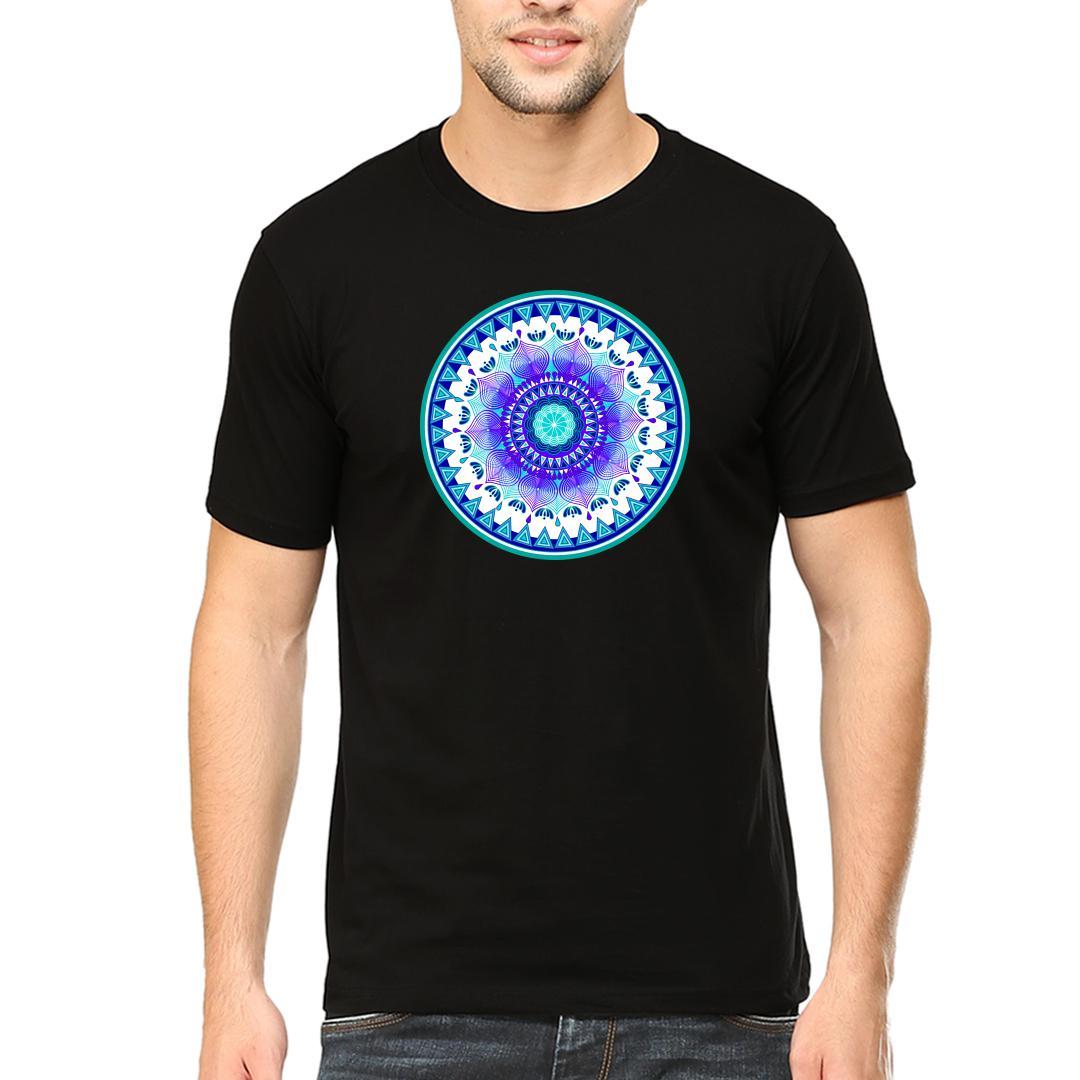 282f4ab4 Mandala Artmen Round Neck T Shirt Black Front