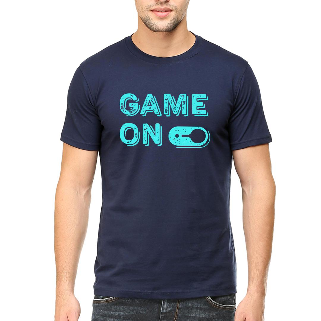 46a24cef Game On Table Tennis Ttmen Round Neck T Shirt Navy Front