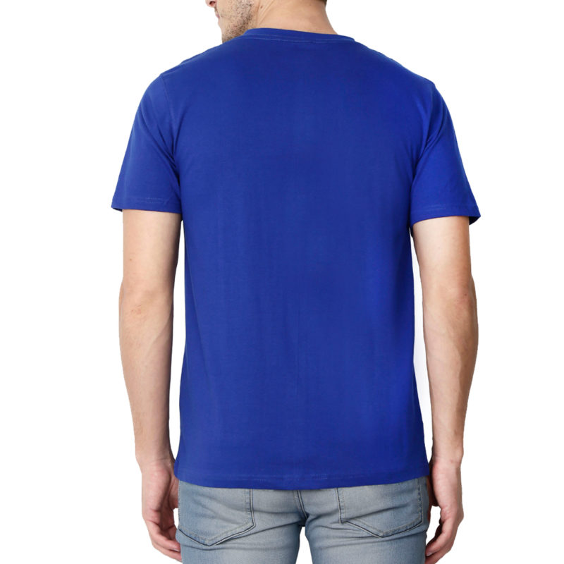 48cc5b54 men v neck t shirt royal blue back