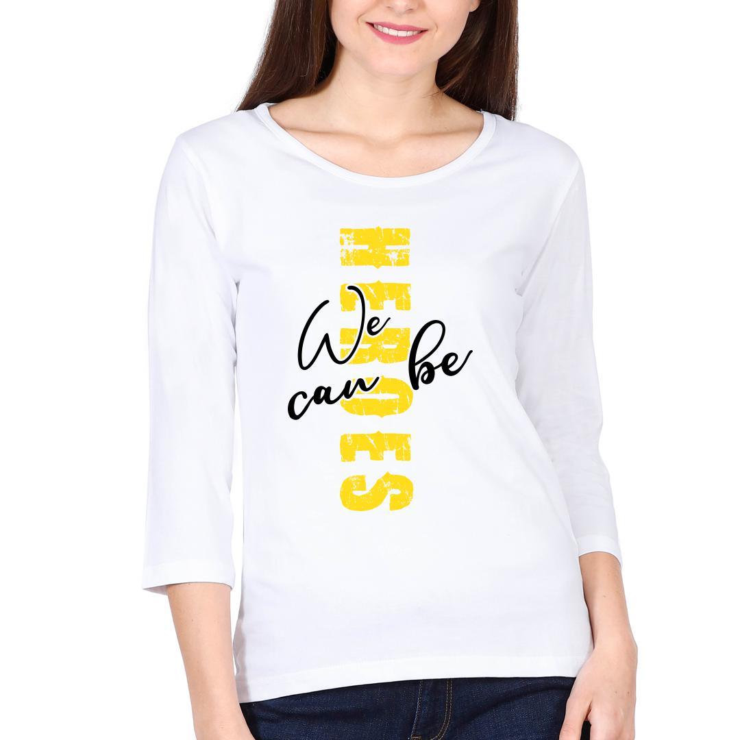 678d8c90 Heroes White Women Full Sleeve T Shirt White Front