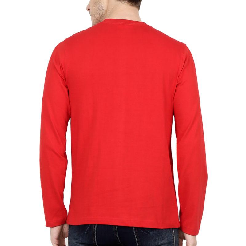 6cf45c14 full sleeve men t shirt red back